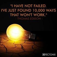 Never give up!  #3d #3dp #3dTectonix #motivation
