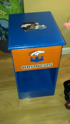 broncos bedrooms | made this Bronco night stand for my sons room!!