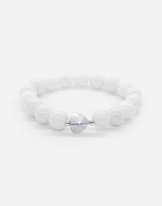 Bracelets / wedding / natural stone / love / white / simple / heart / details Wedding Bracelet, Natural Stones, Beaded Bracelets, Detail, Heart, Simple, Nature, Jewelry, Fashion