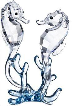 Swarovski Seahorses.  Swarovski Crystal Figurine.