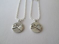 2 Pinky Pomise Best Friends Necklaces by HazelSarai on Etsy, $20.00