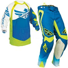 2014 Fly Racing Evolution Clean Kit Combo - Blue Hi Viz