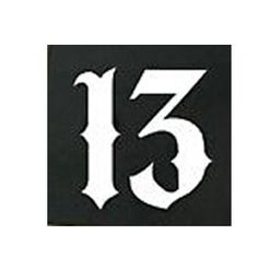 Lucky Number 13 Vinyl Car Window Decal Motorcycle Tattoo Skateboard # Sticker(China (Mainland))