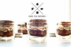 chai tea cupcakes (in jars for easy transportation)