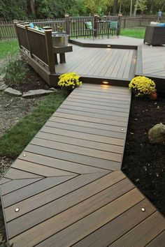 Lighting is an important for a deck. With proper deck lighting, your deck will look gorgeous. Here we have deck lighting ideas to lighten up your deck Backyard Patio, Backyard Landscaping, Landscaping Ideas, Modern Backyard, Pavillion, Deck Lighting, Lighting Ideas, Decks And Porches, Outdoor Living