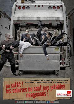 Affiche : Les salariés ne sont pas jetables, réagissons ! - Info'Com-CGT