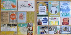 Project Life pages with Amy Tangerine