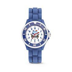 Colori kinderhorloge Politie blauw 30 mm 5-CLK086. Op zoek naar een stoer horloge voor jouw kleine mannetje? En houdt jouw kind van politieauto's ? Dan is dit Colori kidz horloge het item om te hebben! Dit horloge is voorzien van een topring waar de grote minuten makkelijk van af te lezen zijn. De geschakelde siliconen horlogeband geeft dit kinderhorloge een extra stoere look. Verder is het horloge voorzien van een 30 mm horlogekast en heeft een waterdichtheid van 5ATM (spat- en regenwater).