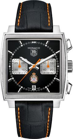 The Swiss luxury watchmaker TAG Heuer known for its sports watches and chronographs is often seen on the wrists of various celebrities. Furthermore, TAG Heuer Tag Heuer Monaco, Fine Watches, Cool Watches, Men's Watches, Silver Watches, Cartier Watches, Black Watches, Diamond Watches, Leather Watches