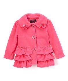 0daf62df7d Unik Pink Ruffle-Accent Coat - Infant · Casaco Infantil FemininoCasacos ...