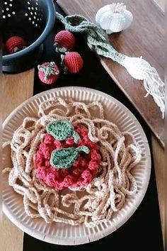 Crochet Food, Crochet For Kids, Knit Crochet, Diy Gifts For Kids, Diy For Kids, Felt Play Food, Succulent Care, Summer Activities, Diy Toys