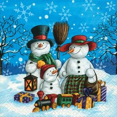 3593 Servilleta decorada Navidad