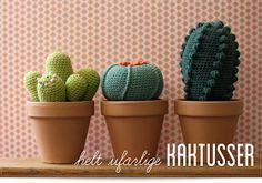 Hæklede kaktusser.
