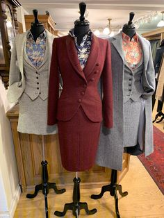 Scottish tweed jacket, suit, knitwear, and tailoring specialists. 2015 Scottish Fashion Awards Retailer of the Year! Tweed Suit Women, Tweed Suits, Serie Suits, Suits Tv Shows, Suits For Women, Ladies Suits, Clothes For Women, Mens Suits, Suit Fashion