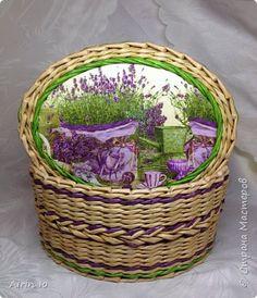 Поделка изделие Плетение Овальные плетенки Бумага газетная Трубочки бумажные фото 4