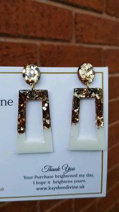 Diy Resin Earrings, Resin Jewlery, Seed Bead Earrings, Polymer Clay Earrings, Statement Earrings, Earrings Handmade, Handmade Jewelry, Diy Resin Projects, Diy Resin Art