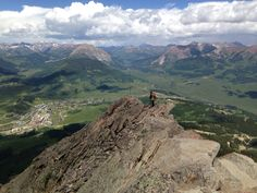 Finally reached the peak of Crested Butte. Elevation 12,170 ft.