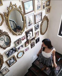 Vintage picture frames/mirror collage!