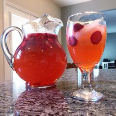 """@allrecipes """"Best Lemonade Ever"""" (made even more amazing by the addition of freshly-picked local strawberries!)  #pinklemonade #strawberrylemonade"""