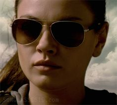 Mila Kunis wears Mosley Tribes Raynes shades in the film The Book of Eli