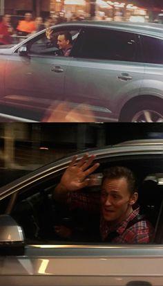 """Tom Hiddleston leaving Thor:Ragnarok set after spending more than 2 hrs taking selfies + signing autographs #blesshim"" https://twitter.com/tomxhiddleston/status/768767401311690752"
