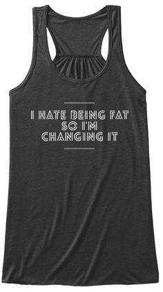 I Hate Being Fat Dark Grey Heather Women's Tank Top Front