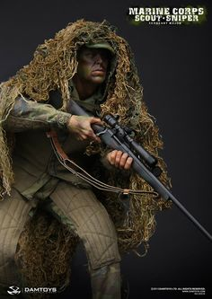 Incoming: DAM Toys scale US Marine Corps Scout Sniper Sergeant Major (Tom Berenger?