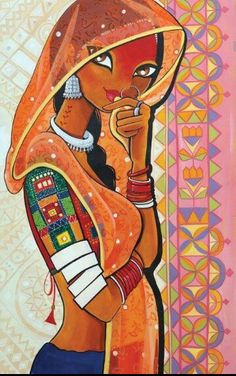 Contemporary art painting acrylics artists ideas for 2019 Rajasthani Painting, Rajasthani Art, Madhubani Art, Madhubani Painting, Mural Painting, Fabric Painting, Indian Folk Art, Indian Art Paintings, Online Painting