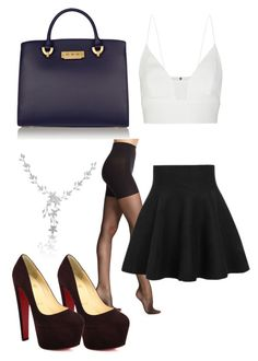 """""""beauty"""" by madde12 ❤ liked on Polyvore featuring SPANX, ZAC Zac Posen, Narciso Rodriguez and Christian Louboutin"""