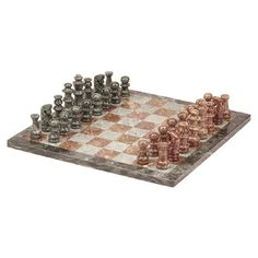 CHH Chess Set in Green & Tan Marble, just like we used to have at the house when I was little