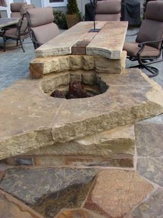 Custom Combination Outdoor Table and Fire Pit