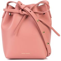 Mansur Gavriel drawstring bucket bag (5 390 SEK) ❤ liked on Polyvore featuring bags, handbags, shoulder bags, leather purses, genuine leather handbags, red leather purse, genuine leather shoulder bag and leather shoulder handbags