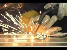 """Basic Welding -- : Welcome, In this document I will outline the basic step by step instructions on how to weld mild steel up to 3/8"""" thick. (NOTE: A experienced welder may be able to weld thicker material with some pre-heating, but I would not suggest it.) Welding h... Welding Rods, Mig Welding, Metal Welding, Welding Art, Welding For Beginners, History Of Welding, Types Of Welding, Welding Gloves, Welding Training"""
