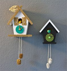 DIY cuckoo clocks, oh, the possibilities! found via Mes Petites Mains magazine