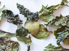 JACKIE ALPERS PHOTOGRAPHY - Kale, spinach and chard leaf chips. Food photography by Jackie Alpers for the Food Network.