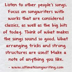 Songwriting tips to help you write better songs.