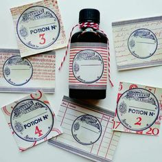 Apothecary label stamps on Skin Tonic packaging Shops, Craft Stickers, Apothecary, Stamping, Label, Packaging, Etsy, Vintage, Cards