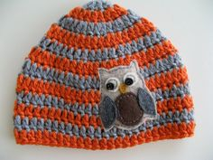 Super cute baby boy hat -- could be done in girl colors!