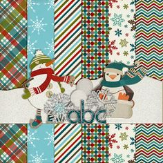 Winter mini kit freebie from Harper Finch