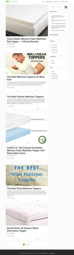 Mattress Topper HQ help you compare the different features of various types of mattress toppers in order to make the best choice for yourself and family. http://mattresstopperhq.com/