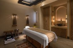 Indulge yourself with one of our relaxing treatments or beauty therapies at The Spa at Ladies' Spa Treatments Sharjah, Spa Interior Design, Studio Room, Wellness Spa, Spa Treatments, Old Houses, Modern Architecture, Guest Room, Furniture Design