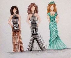 big ben, cool, dress, eiffel tower, statue of liberty - image ...