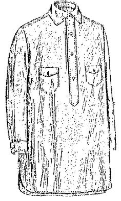 Past Patterns: #8225: Men's and Boy's Outing or Negligee Shirt: Circa 1920