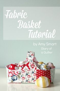 Sewing Crafts To Make and Sell - Fabric Basket Tutorial - Easy DIY Sewing Ideas To Make and Sell for Your Craft Business. Make Money with these Simple Gift Ideas, Free Patterns, Products from Fabric Scraps, Cute Kids Tutorials Diy Craft Projects, Easy Sewing Projects, Sewing Projects For Beginners, Sewing Hacks, Sewing Crafts, Sewing Tips, Sewing Ideas, Baby Quilt Tutorials, Sewing Tutorials