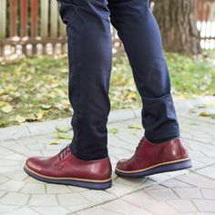 Pantofi barbati Piele Birgir bordo casual #magazindefashion
