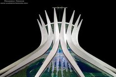 Cathedral of Brasilia at Night - Niemeyer's Brasilia