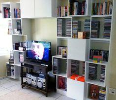 Estante Cds, Bookcase, Corner, Shelves, Home Decor, Shelving, Decoration Home, Room Decor, Book Shelves