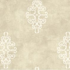 Natural Radiance Ironwork Medallion Damask Wallpaper | Wayfair