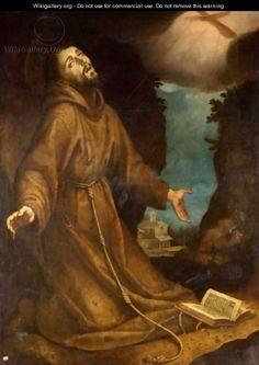 Saint Francis Receiving The Stigmata - (after) Lodovico Cardi Cigoli