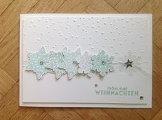 Stampin'up, Goodies,  Flockenzauber, Snow Flurry Punch, Sofly Falling, Eiskristalle, Weihnachtskarte, Leise rieselt,